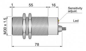 SC30SM-C20 PNP NO+NC
