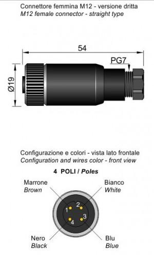 MOD.10 M12 A CABLARE
